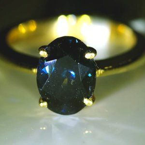 Blue Spinel 2.75ct Solid 22K Yellow Gold Ring